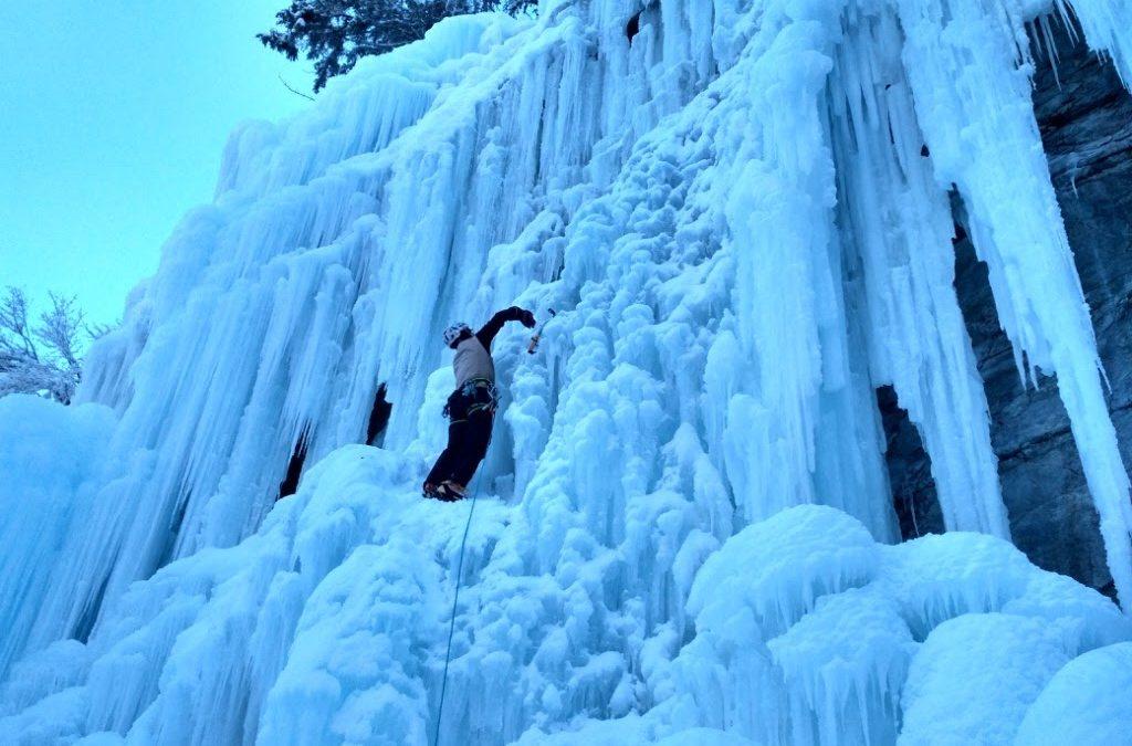 Ice climbing Les Contamines