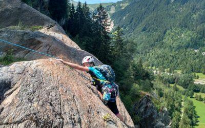 Rock route at La Duchere