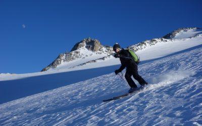 Ski-touring at 3000
