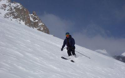 High glacier skiing