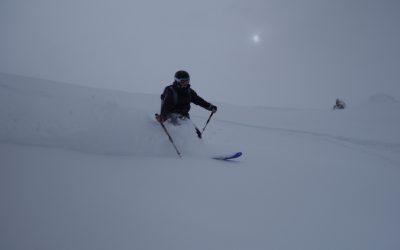 Deep powder skiing