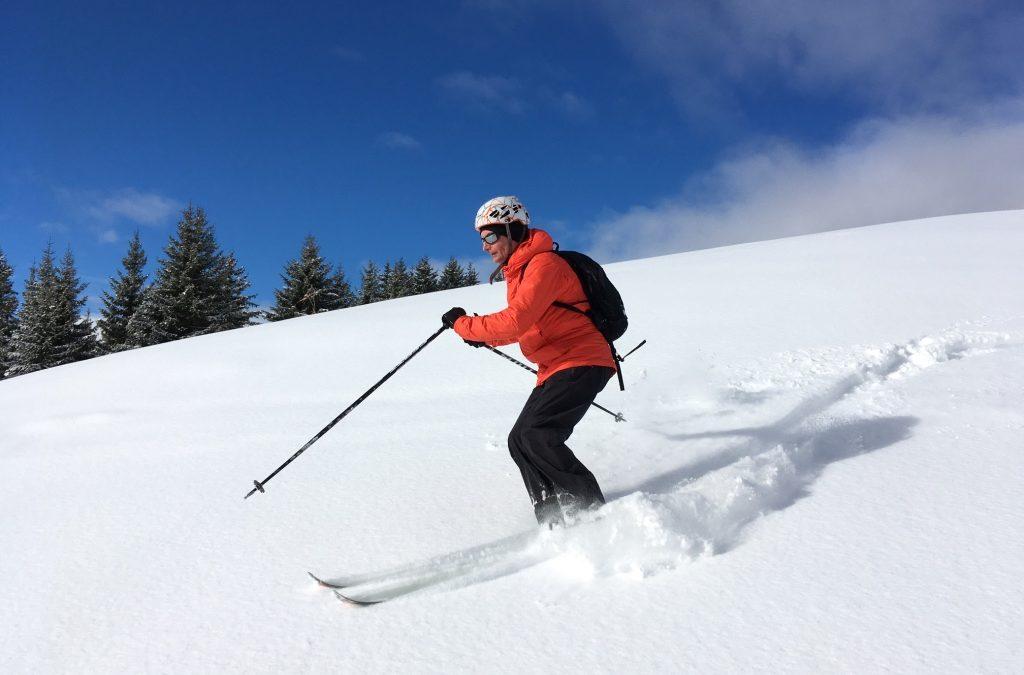 Ski in the sun