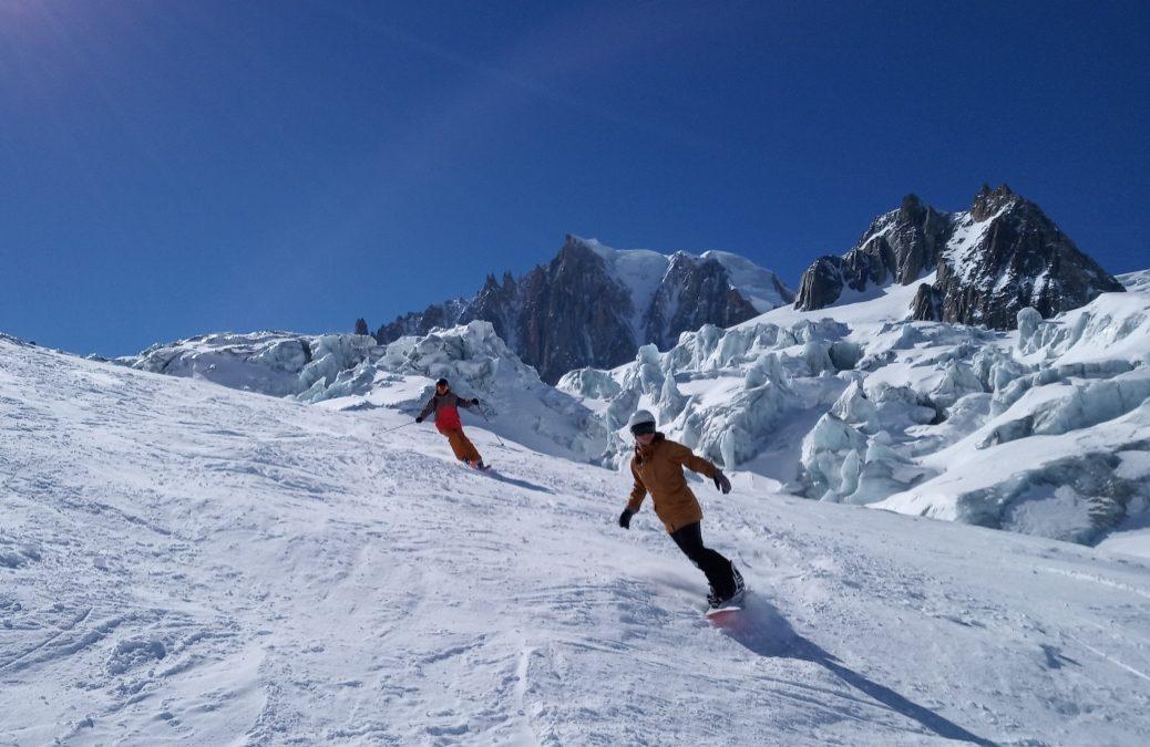 Courmayeur snowboard ski