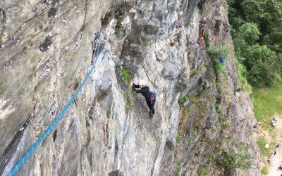 Valley rock climbing