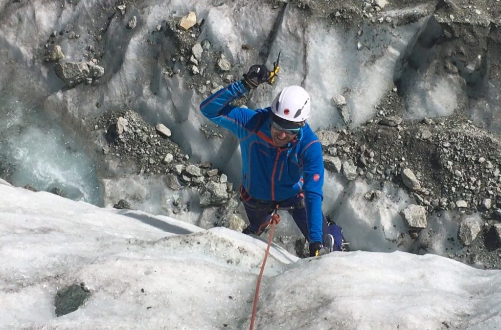 Crampons and ice axe skills